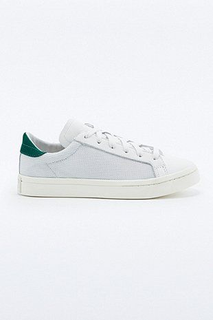 adidas Originals Court Vantage White and Green Nubuck