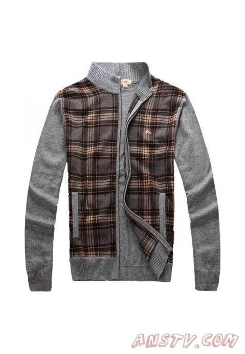 Hommes's Burberry TextuRouge Stripe Sweaters msweat017