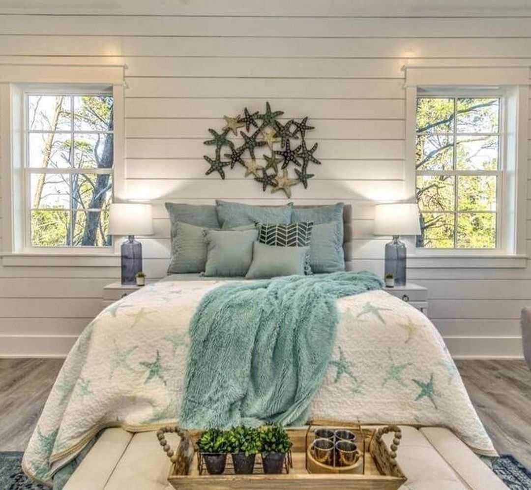 10 Small Guest Room Ideas That Are Larger Than Life: Luxury Beachy Farmhouse Bedroom