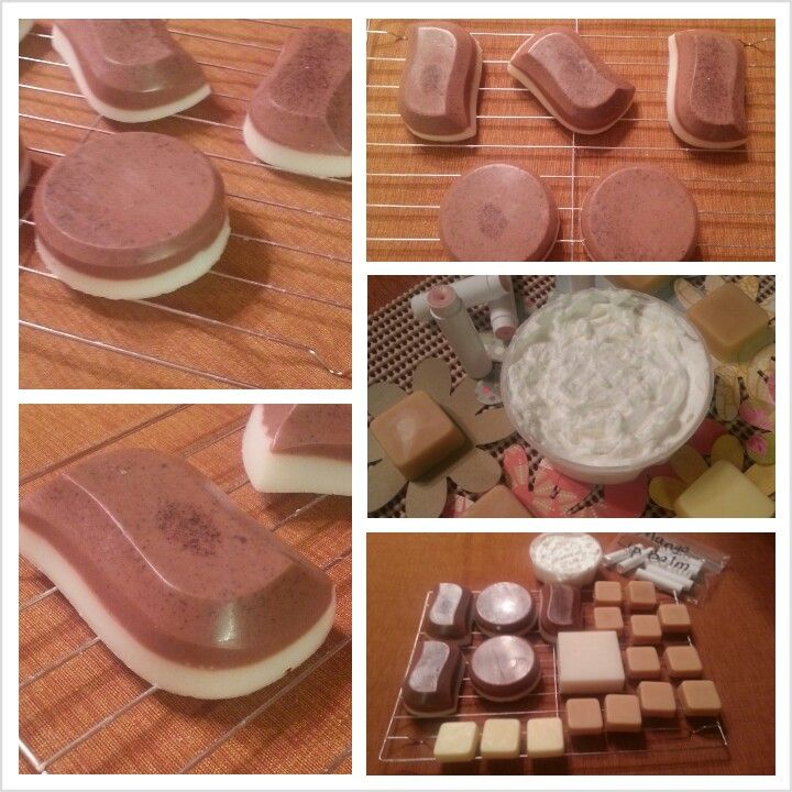 Chocolate Spice Soap, Coconut Island Whipped Body Cream, Mango Lip Balm, Cocoa Butter Bars and French Vanilla Soap--quite the busy weekend!