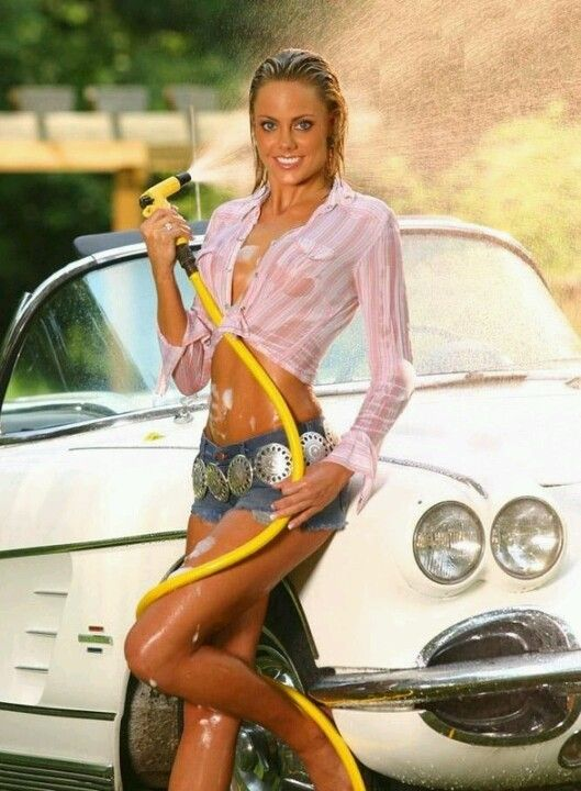 2016 �� hot rod car wash and the beautiful girl in