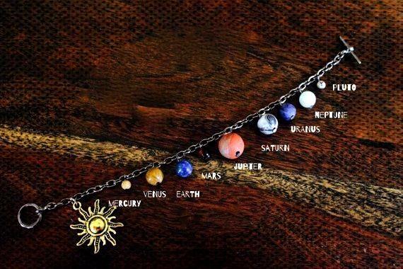 Solar System Bracelet Gem Stone Solar System Bracelet Gem Stone Solar System Bracelet Gem Stone