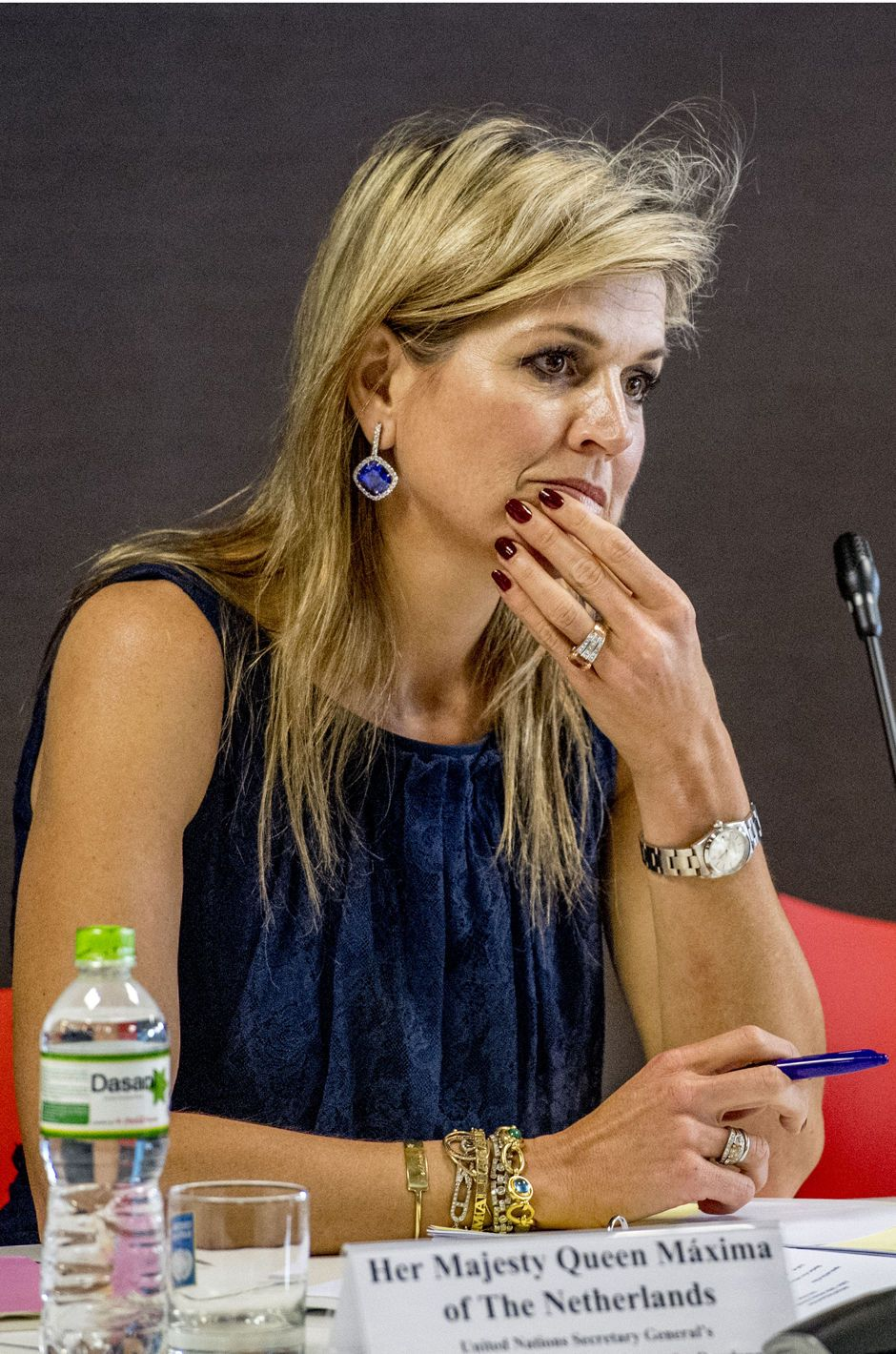 Queen Maxima of the Netherlands attend the UN briefing with international partners on May 31, 2017 in Hanoi, Vietnam. Queen Maxima is in Vietnam for an three day visit in her capacity as United Nation's Secretary-Generals Special Advocate for Inclusive Finance for Development.