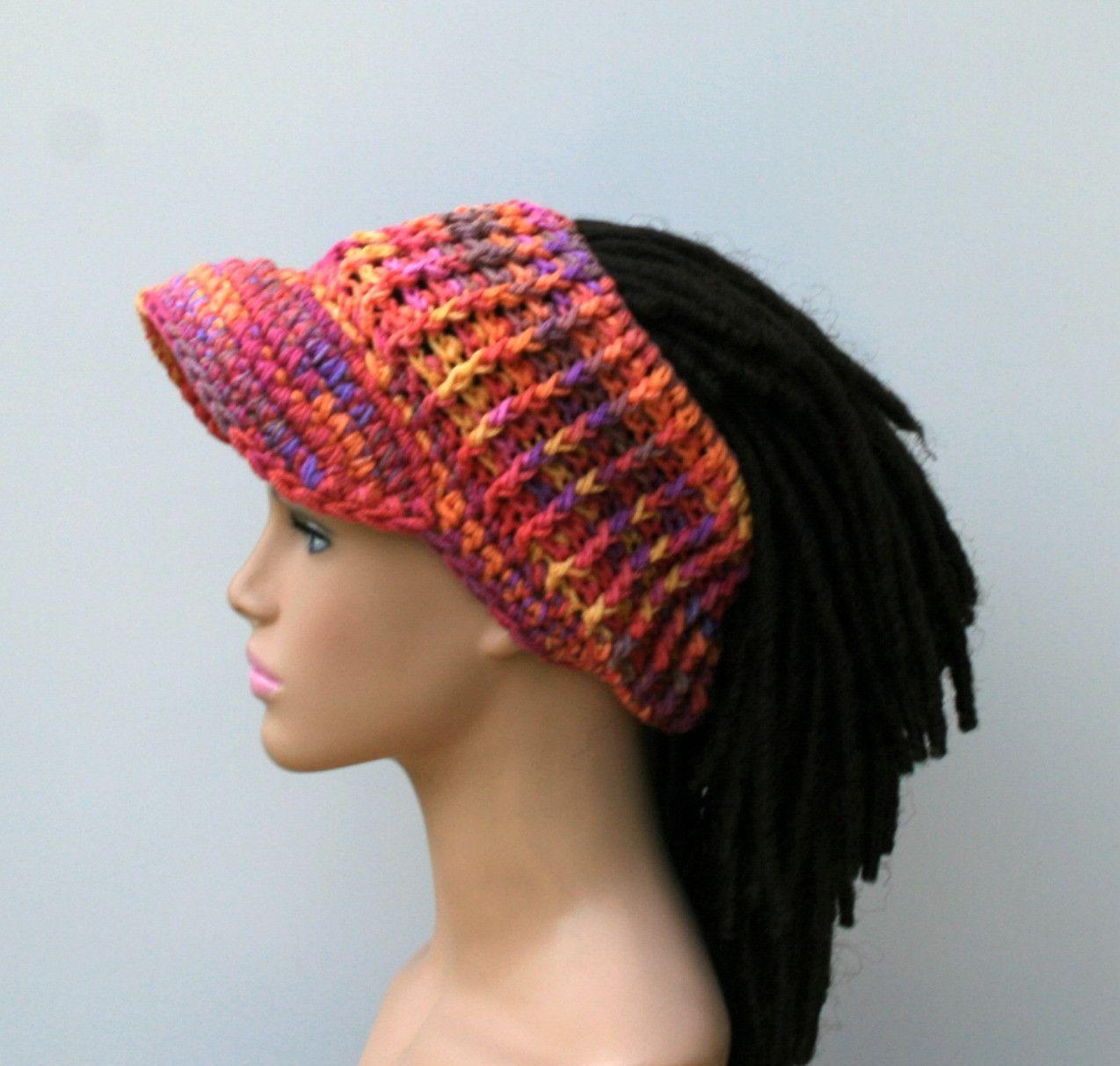 Custom Color Ponytail Hat Visor Dread Tube Cap Billed Dread Tube