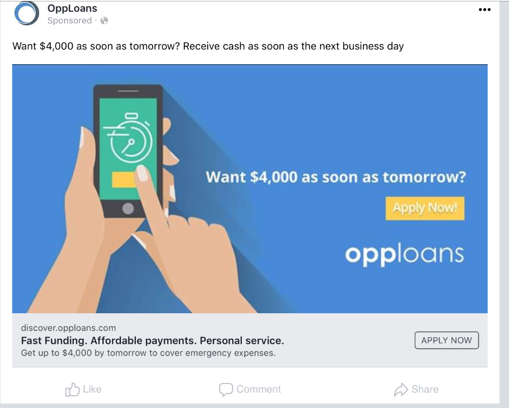 Facebook Ads Loan Google Search In 2020 Personal Services How To Apply Facebook Ad