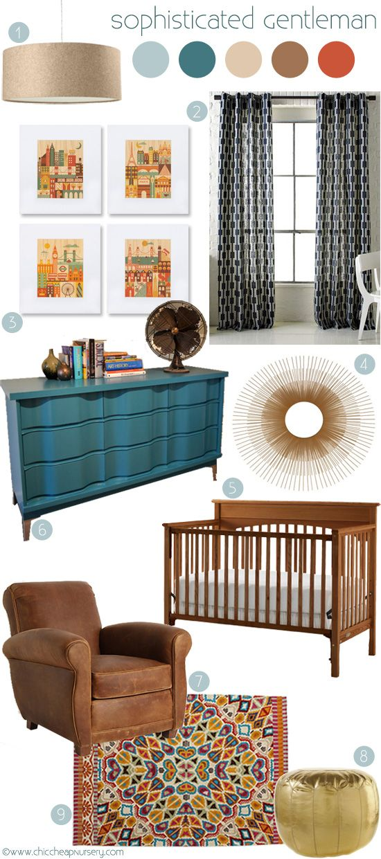 """Everything Designish Baby Boy S Nursery: Love This Design Board! Hope The Crib Stays """"naked."""" Just"""