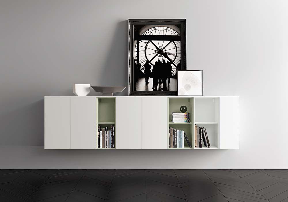 Credenza Con Libreria : Madia credenze con moduli a giorno libreria in laccato bianco