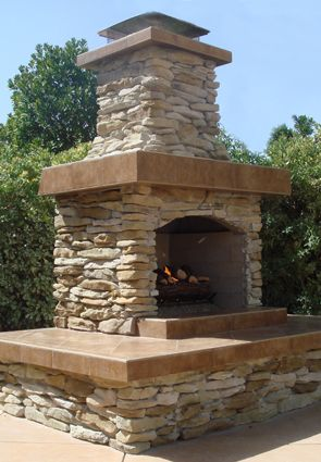 Outdoor Fireplace Kits - Easy to Assemble - Beautiful in ... on Simple Outdoor Fireplace Ideas id=90420