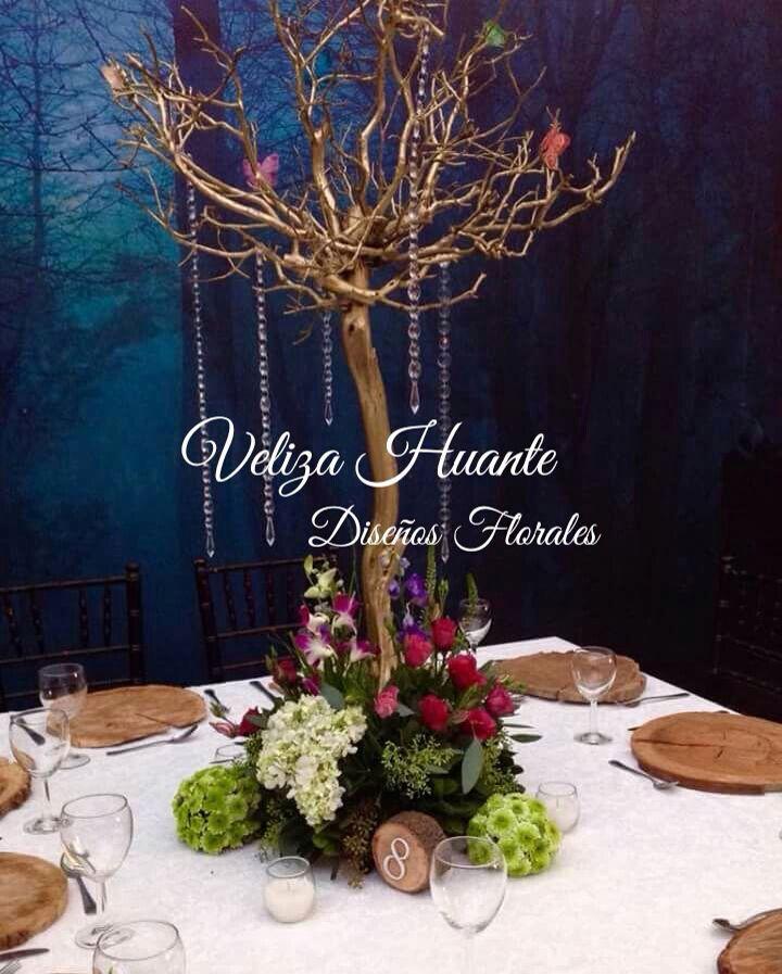 Resultado de imagen para centro de mesa bosque encantado Bosque - arreglos de mesa