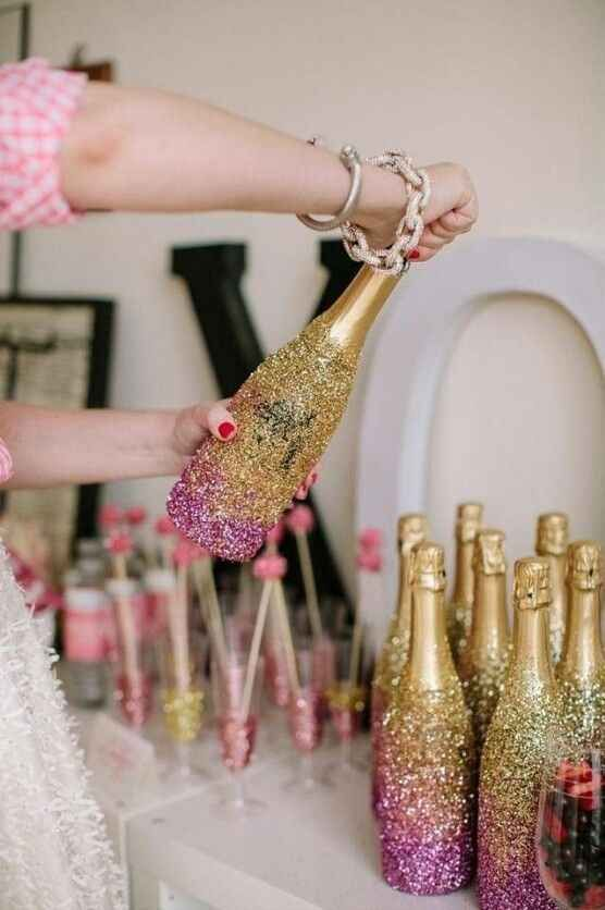 Add extra sparkle to your bubbly.   21 Fun Ways To Have A Fancy And Delicious New Year's Eve
