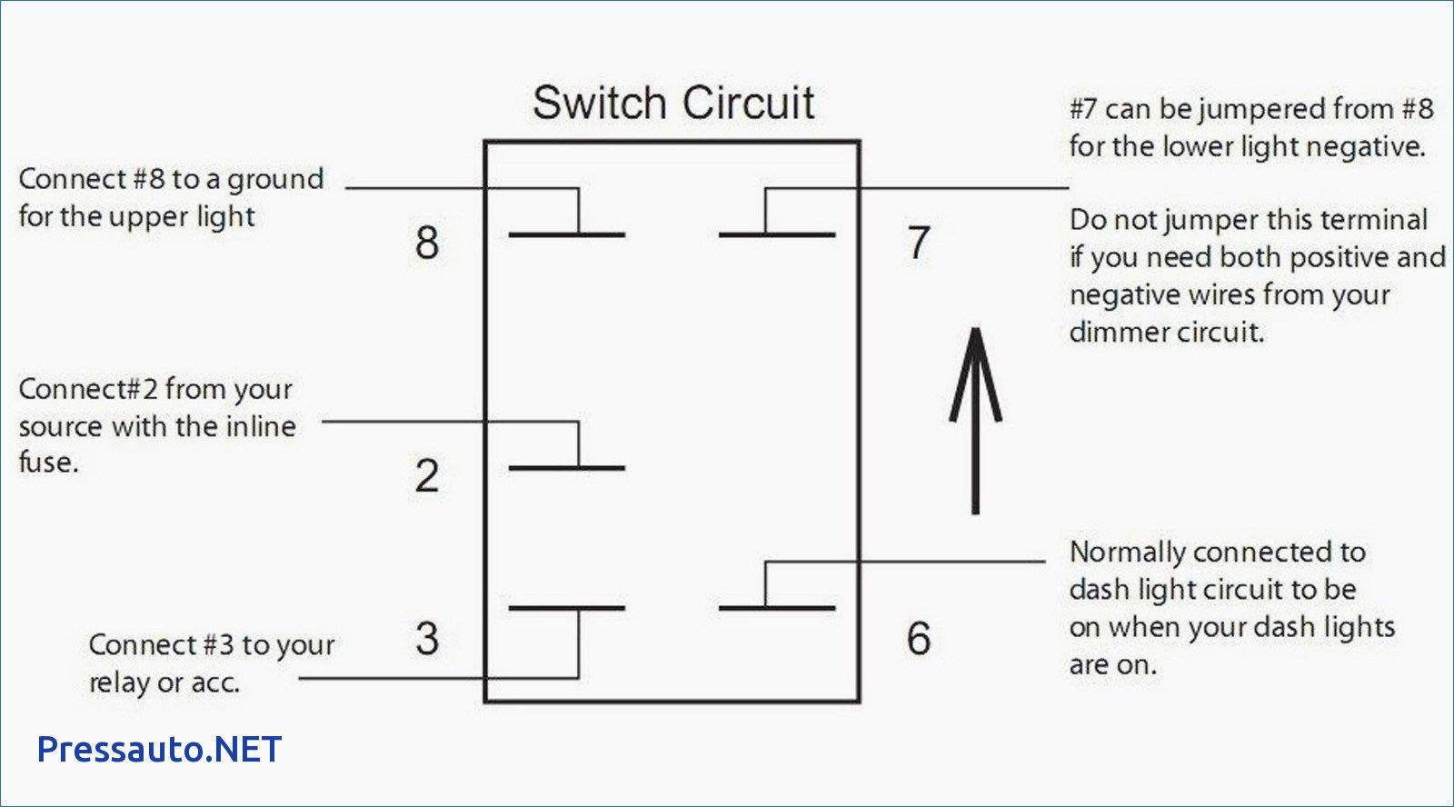 Led Light Circuit In Addition Illuminated Rocker Switch Wiring Diagram