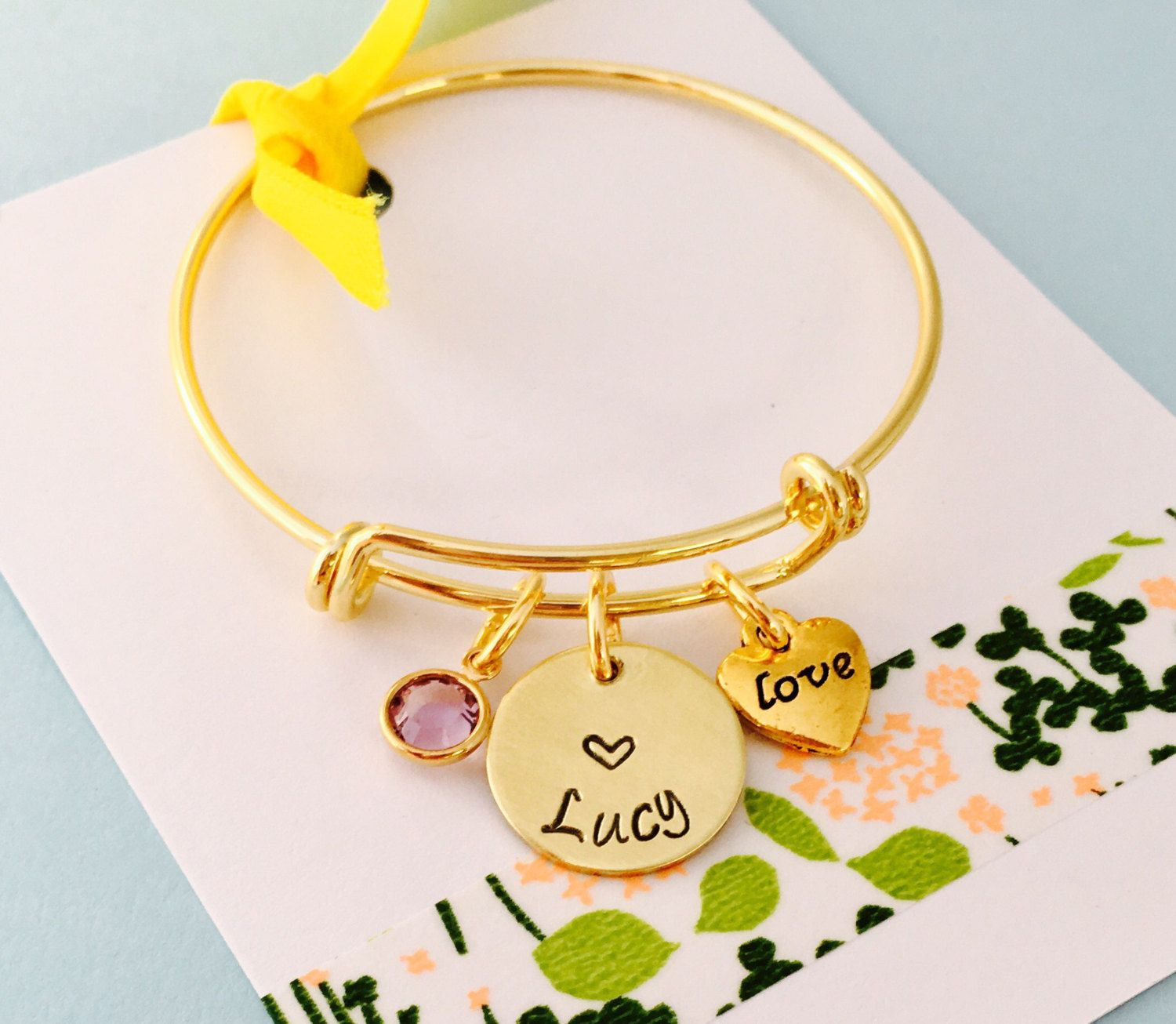 engraved girls best bracelet girl gold lucky dp com gift snowflake amazon bangle charm cool bracelets jewelry era bangles