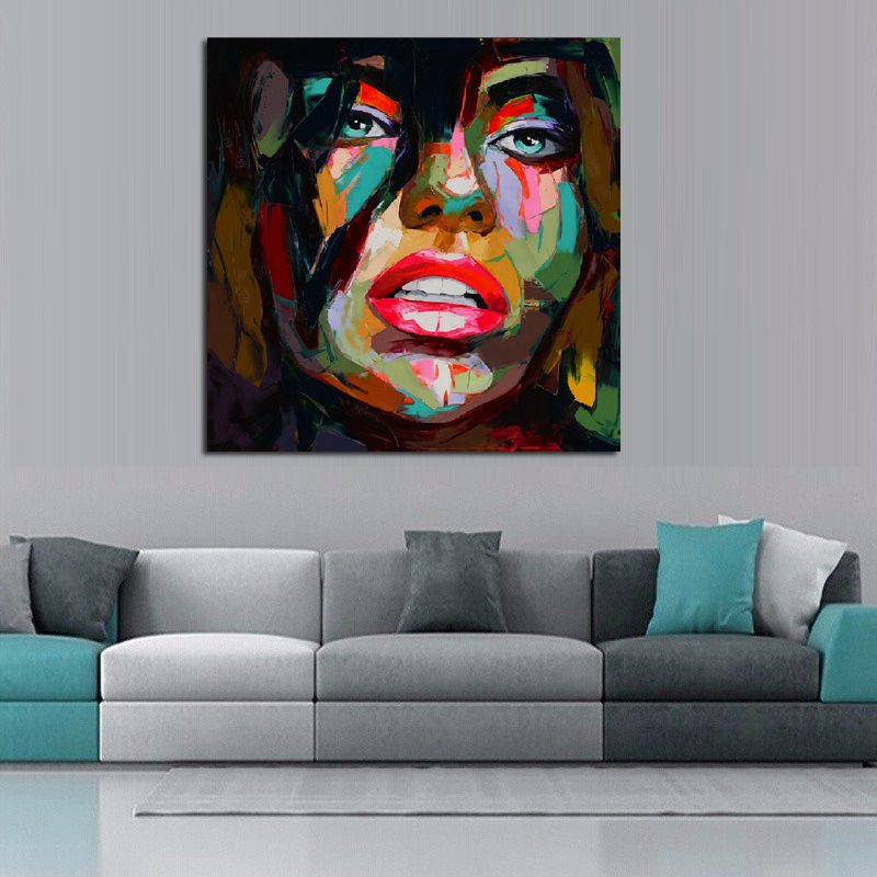 Francoise nielly oil painting handmade abstract portrait palette ...