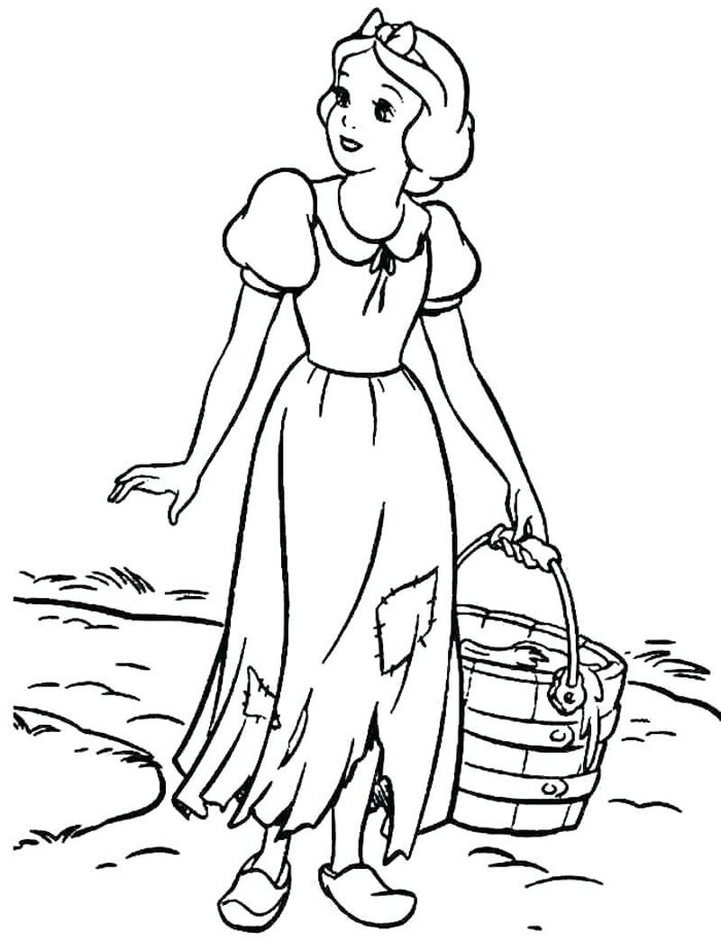 Snow White Coloring Pages For Your Lovely Daughters Snow