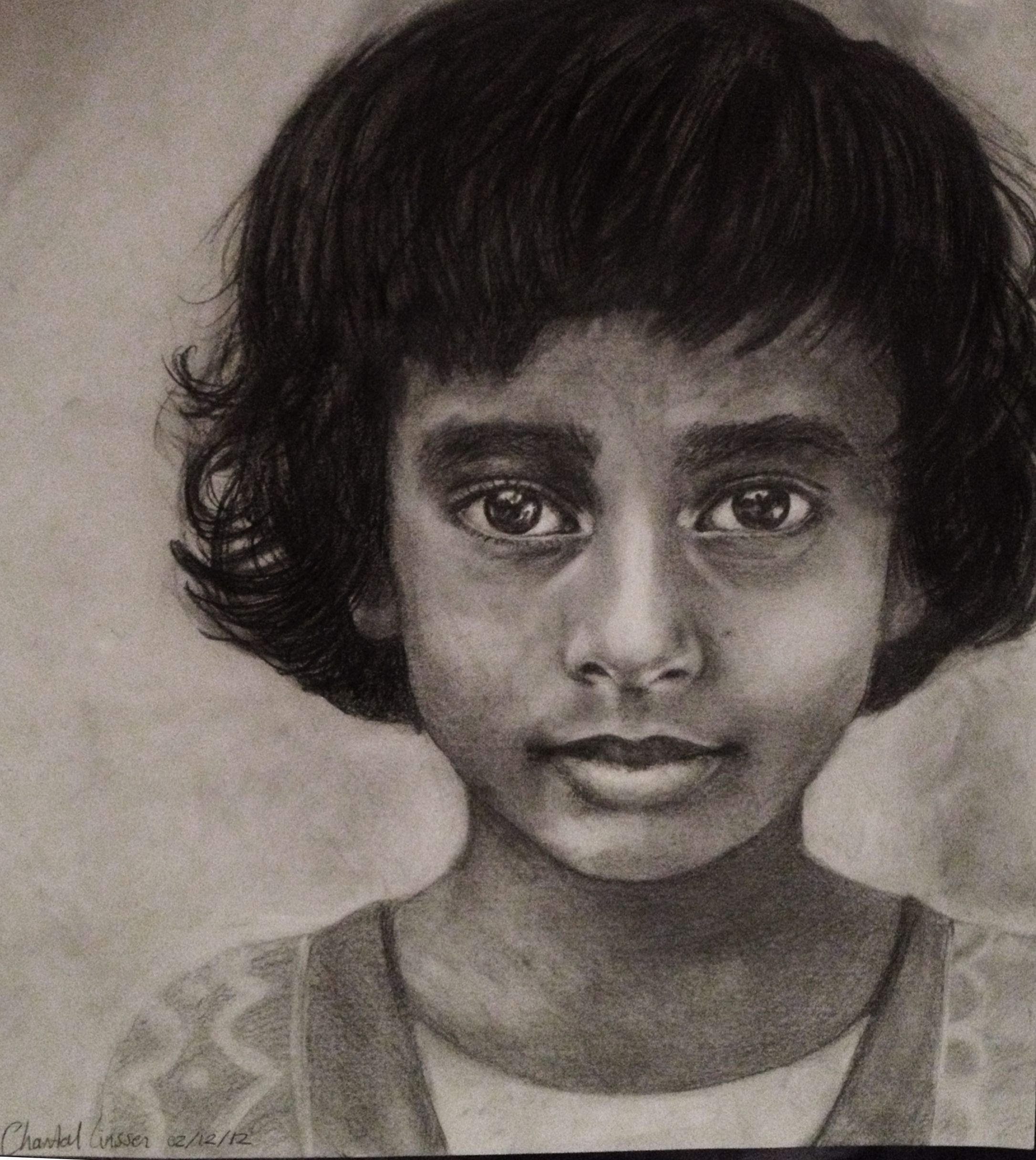 Indian Girl    Pencil drawing