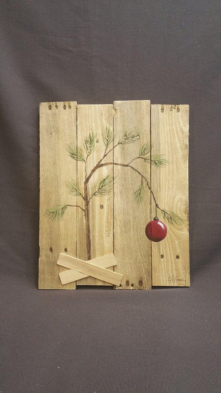 Charlie Brown Christmas tree Hand panted by TheWhiteBirchStudio ...
