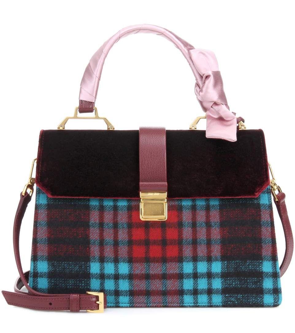 c59195f69cee MIU MIU Velvet-trimmed tote.  miumiu  bags  velvet  tote  leather  lining  shoulder  bags  hand bags  wool