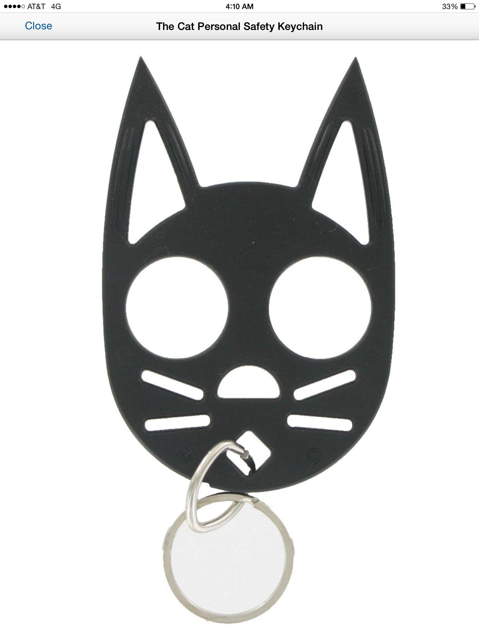 Self defense cat Self defense keychain, Cat self defense