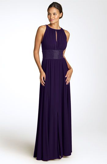 Definitely something like this if I choose a long gown for the bridesmaids. LOVE the keyhole