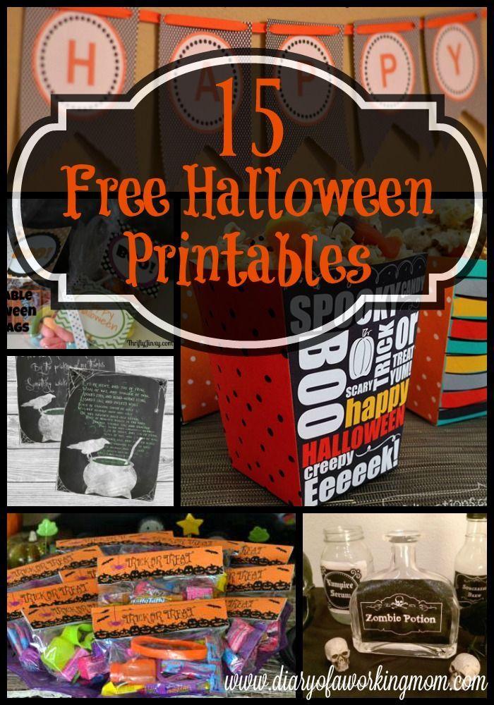 15 Free Halloween Printables {Round Up 15 Free Halloween Printables spookyhalloweencostumes