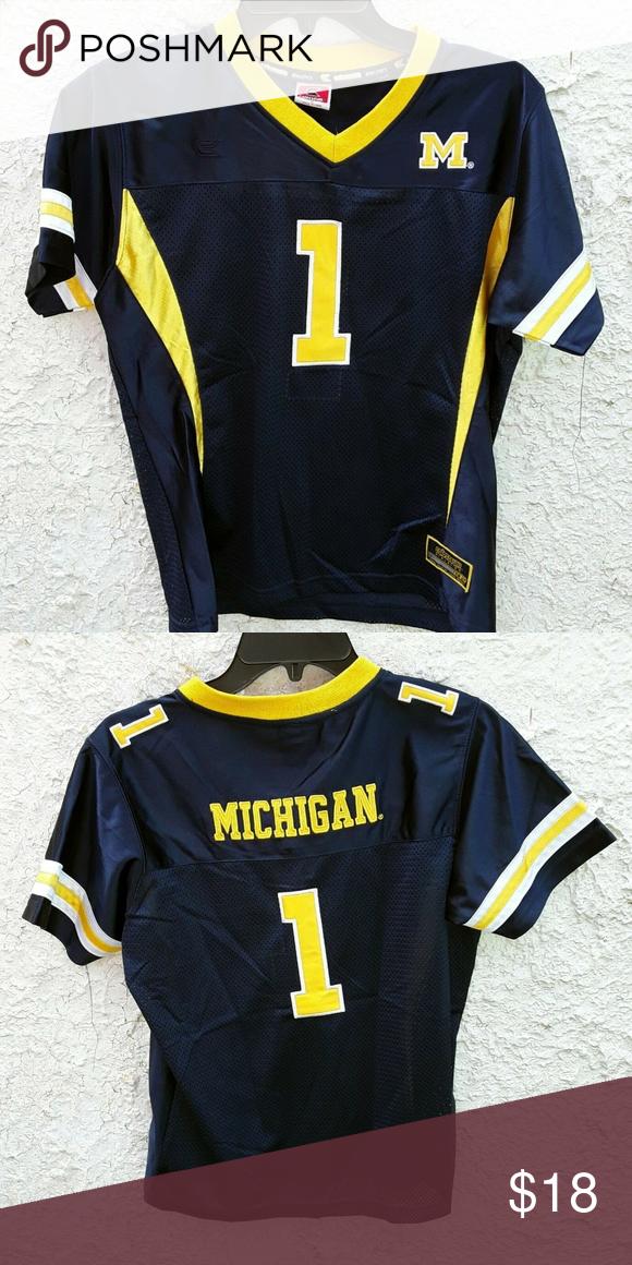 Michigan Wolverines Youth Football Jersey Large Michigan Wolverines 1 College Football Jersey Made By Youth Football Jerseys Youth Football Football Jerseys