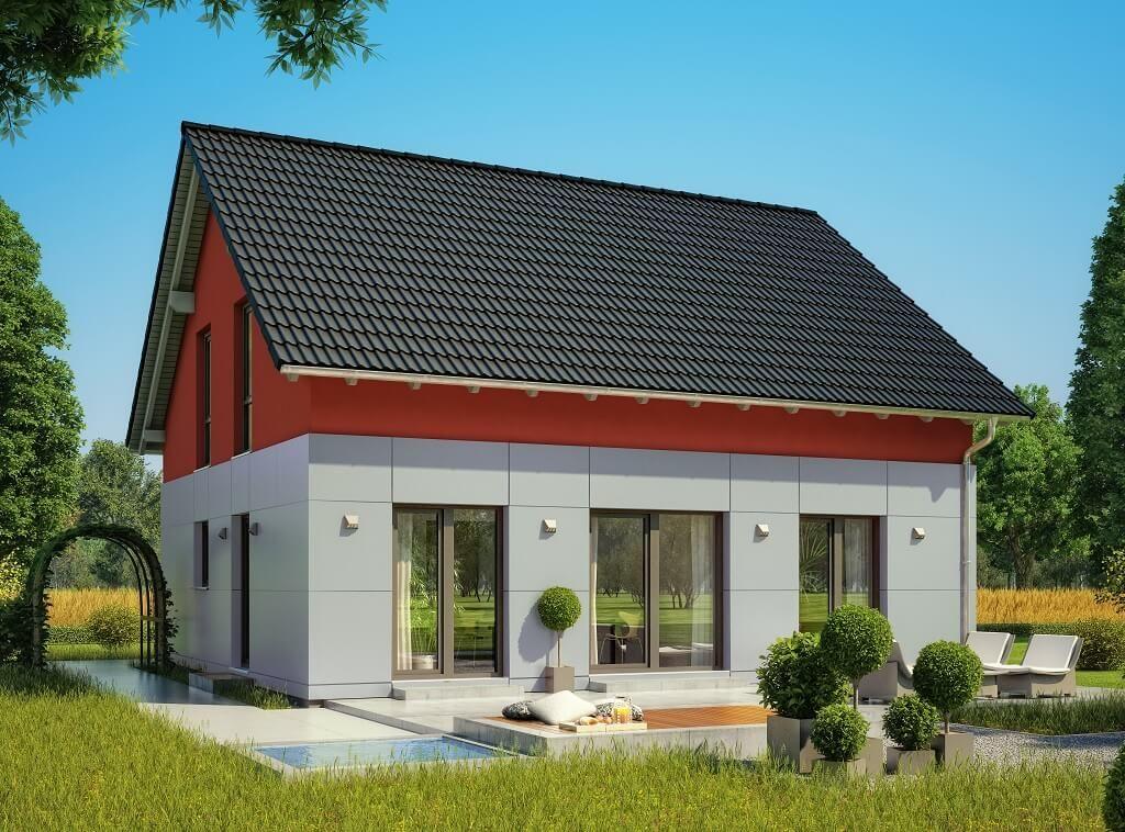 Haus Fassade Rot Weiß - Einfamilienhaus Celebration 150 V1 mit ...