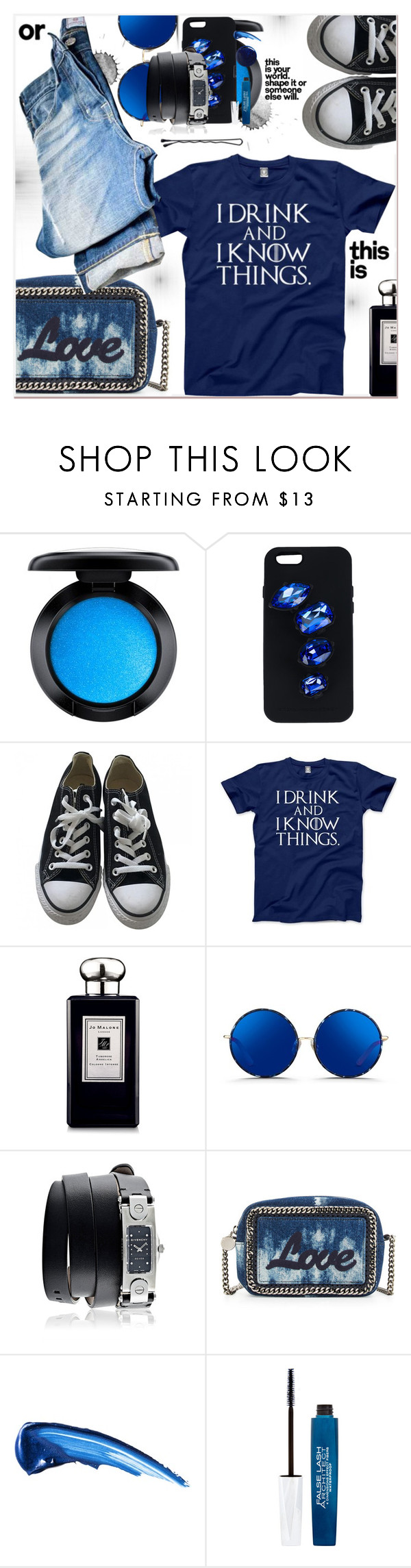 """""""Casual Day"""" by dragananovcic ❤ liked on Polyvore featuring MAC Cosmetics, STELLA McCARTNEY, Converse, Jo Malone, Matthew Williamson, Givenchy, BOBBY, L'Oréal Paris and RGB"""