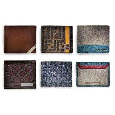 d181f8c625fa Men's wallets from Fendi, Prada, Burberry, Goyard & Gucci. Available @  www.cloutshoppe.com.