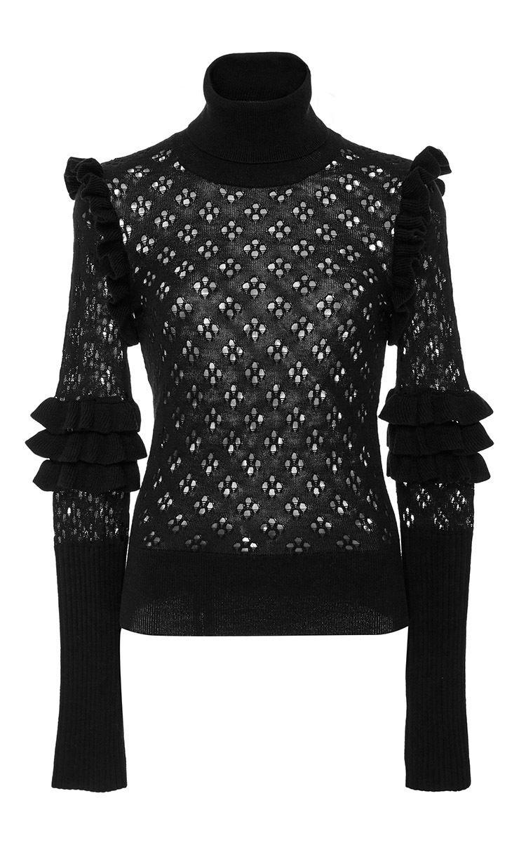 Jenny Ruffle Sweater by JILL STUART for Preorder on Moda Operandi