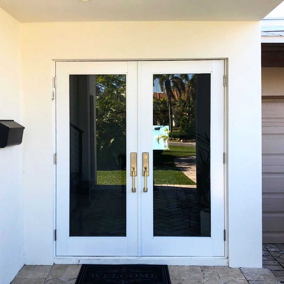 Completed Project Of Impact Resistant Windows And Doors In Hallandle Florida Hurricaneprotection Impactwindows Th Impact Windows Windows And Doors Windows