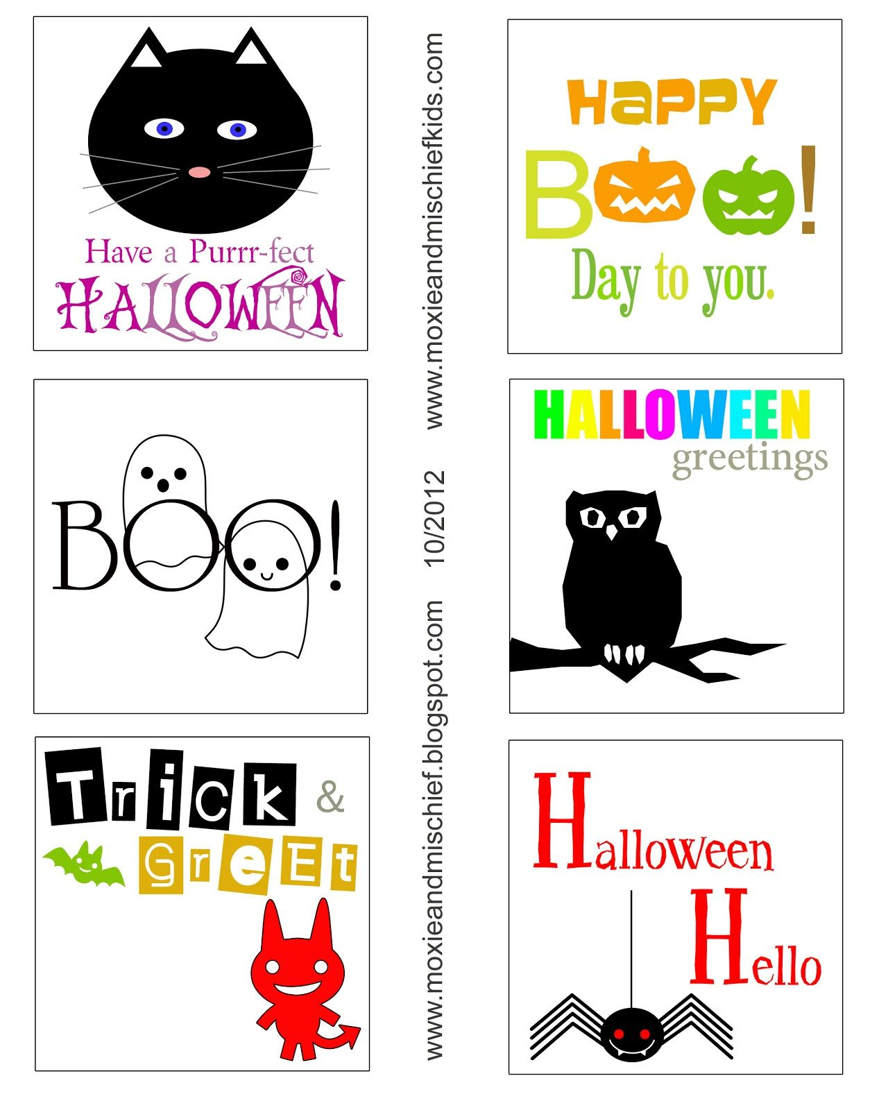 Moxie and Mischief Blog: Freebies: Halloween 2012 Printables