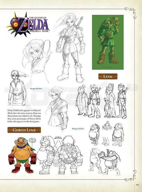 Character Design Challenge Zelda : Rare character designs for link from the legend of zelda