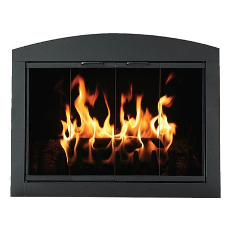 Heritage Arch Plate Fireplace Glass Door Woodlanddirect