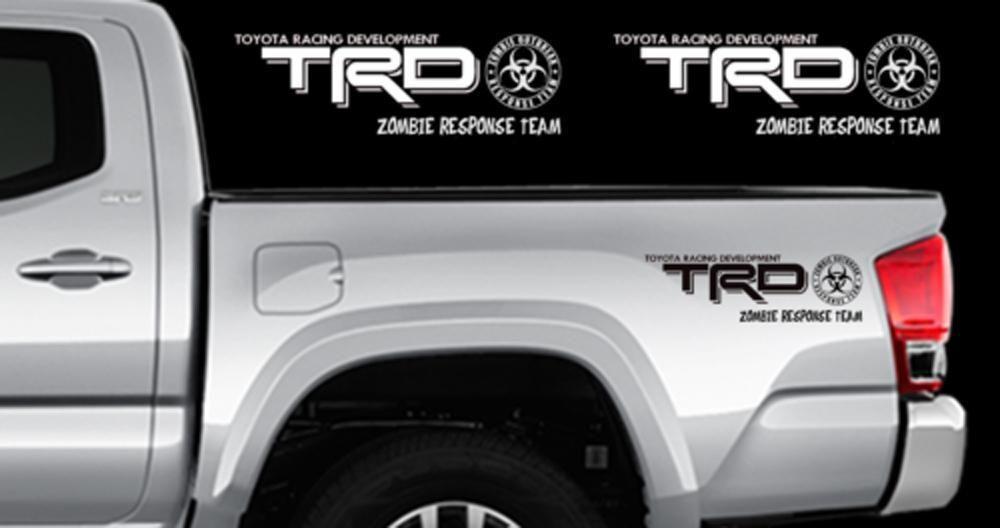 TRD ZOMBIE RESPONSE TEAM Decals Toyota Tundra Truck