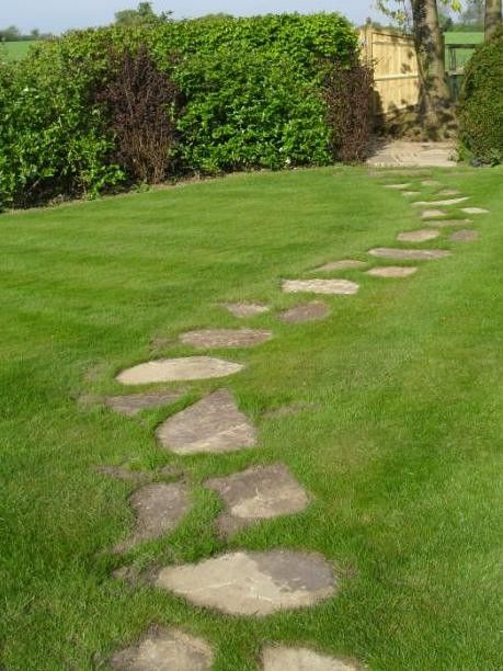 Grass path dirt under my nails pinterest paths for Stone path in grass