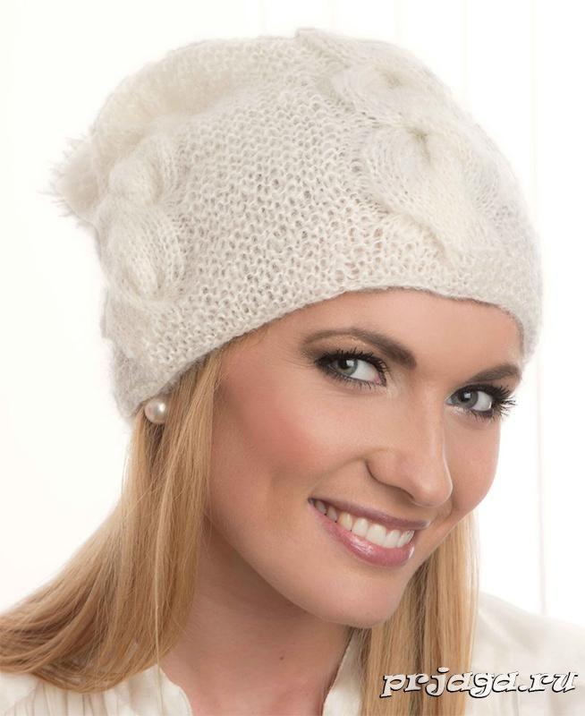шапка из мохера спицами   вязание шапок   Pinterest