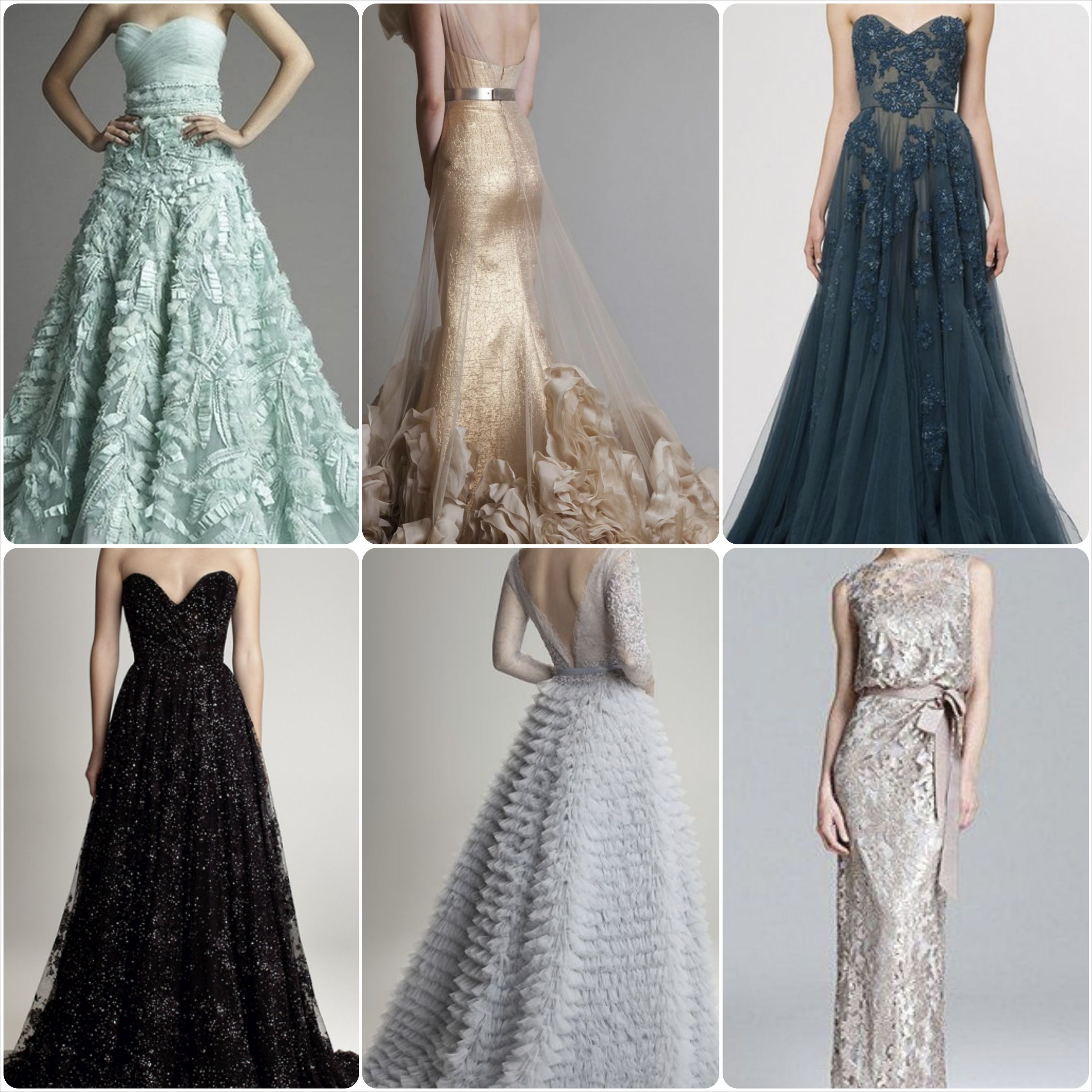 Trendy Tuesday - Colored Gowns