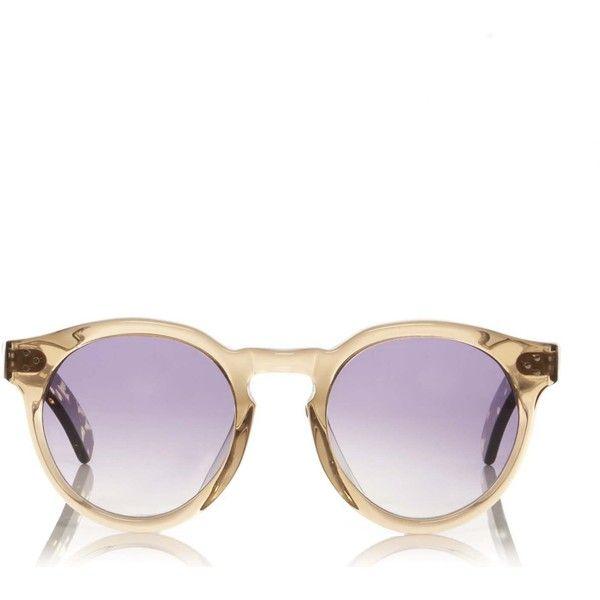 Illesteva Leonard II Leopard Sunglasses ($290) ❤ liked on Polyvore featuring accessories, eyewear, sunglasses, illesteva sunglasses, clear acetate glasses, illesteva, clear sunglasses and leopard print sunglasses