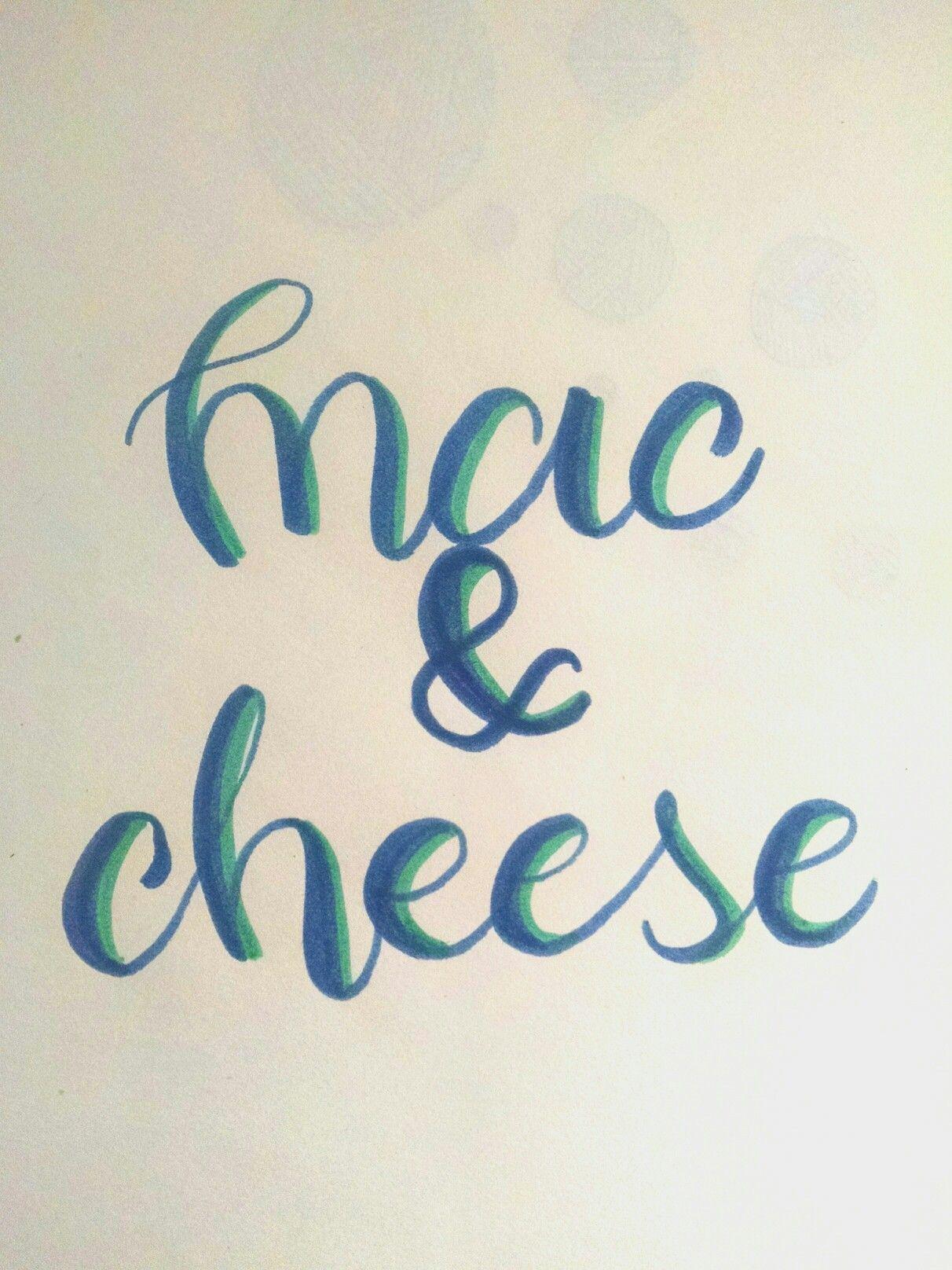 Mac And Cheese Handmade Calligraphy Brushlettering Brushpen Inktober Malvorlagen Vorlagen