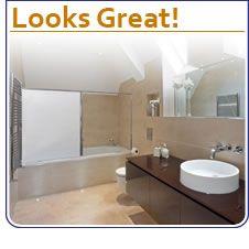 Modern Bathroom Shower Curtain Roller Blinds Extra Long Available