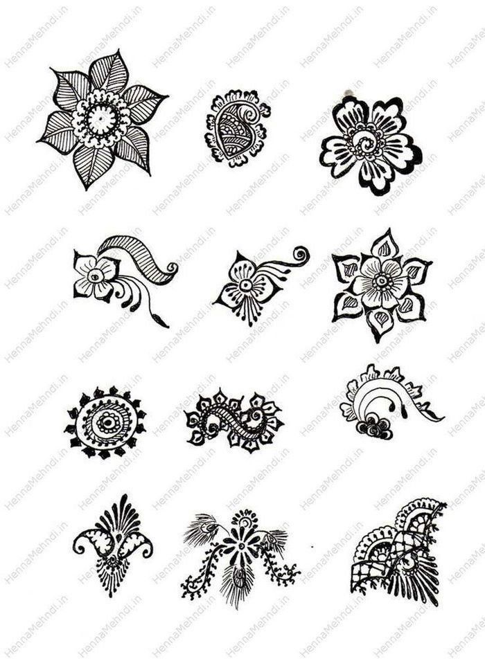 Henna Tattoo To Buy: Small Henna Designs Ideas Going To Buy Henna Body Designs