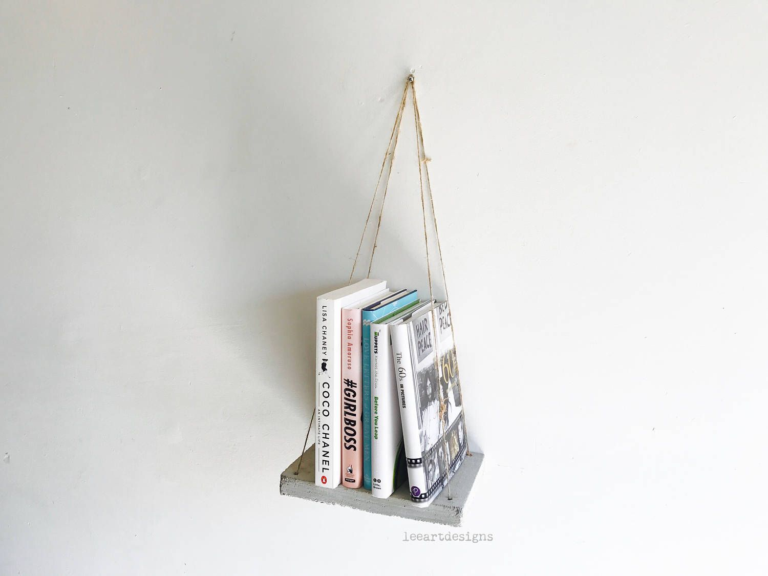 urban decor furniture. Concrete Swing Shelf, Industrial Decor, Beach Urban Home Furniture, Book Floating Shelf Decor Furniture