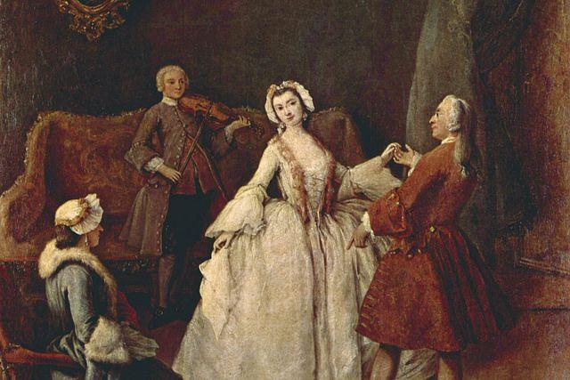 La lezione di danza (The Dancing Lesson), ca 1741 by Pietro Longhi, Venezia, Gallerie dell'Accademia