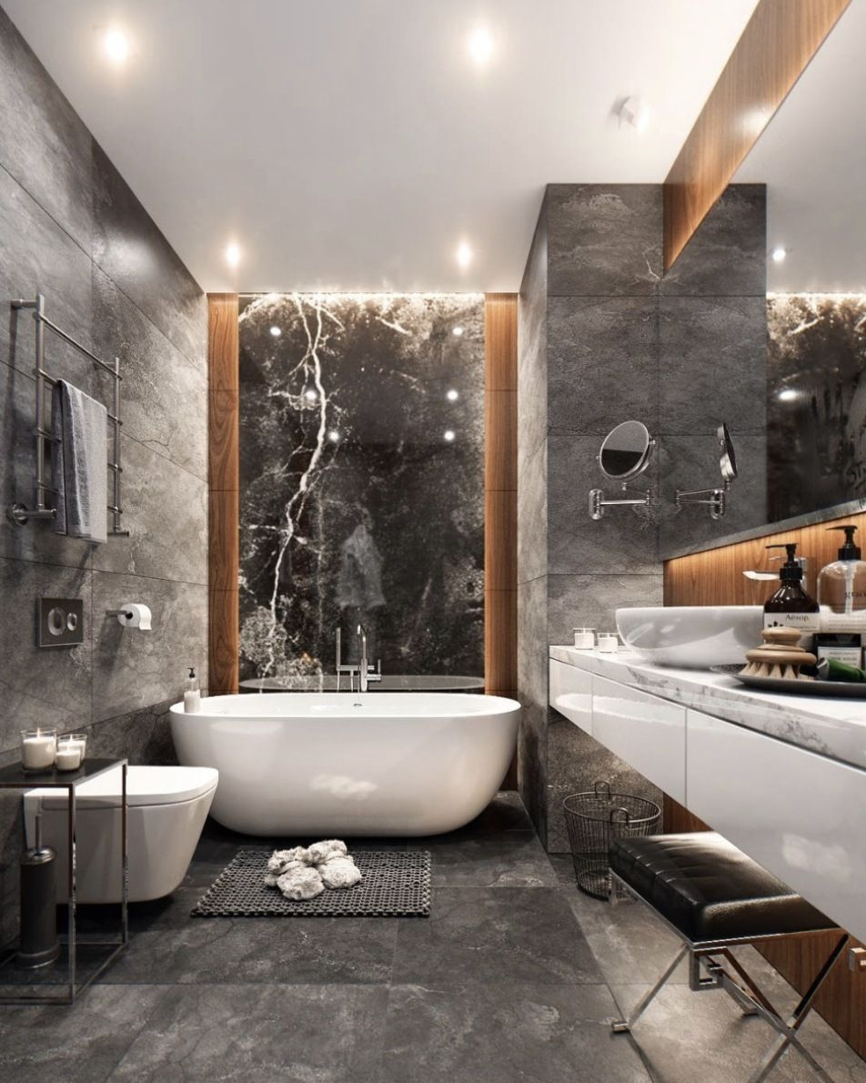 M I X It U P Combination Trend Of Ceramic Granite Tile Marble And Wood Via Studia 54 D White Bathroom Designs Black Marble Bathroom Bathroom Design