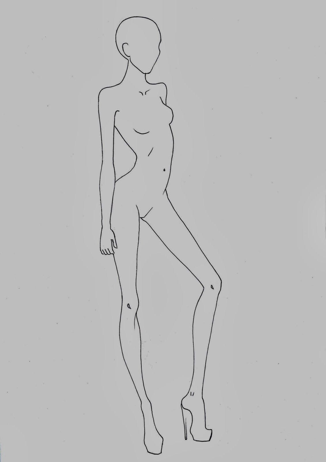 Fashion croquis templates - corpi figurini base moda 2 | Fashion ...