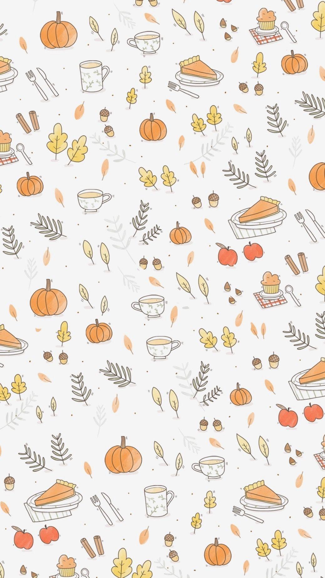 Pin By Madeleinecocina On Autumn Iphone Wallpaper Fall Thanksgiving Wallpaper Cute Fall Wallpaper