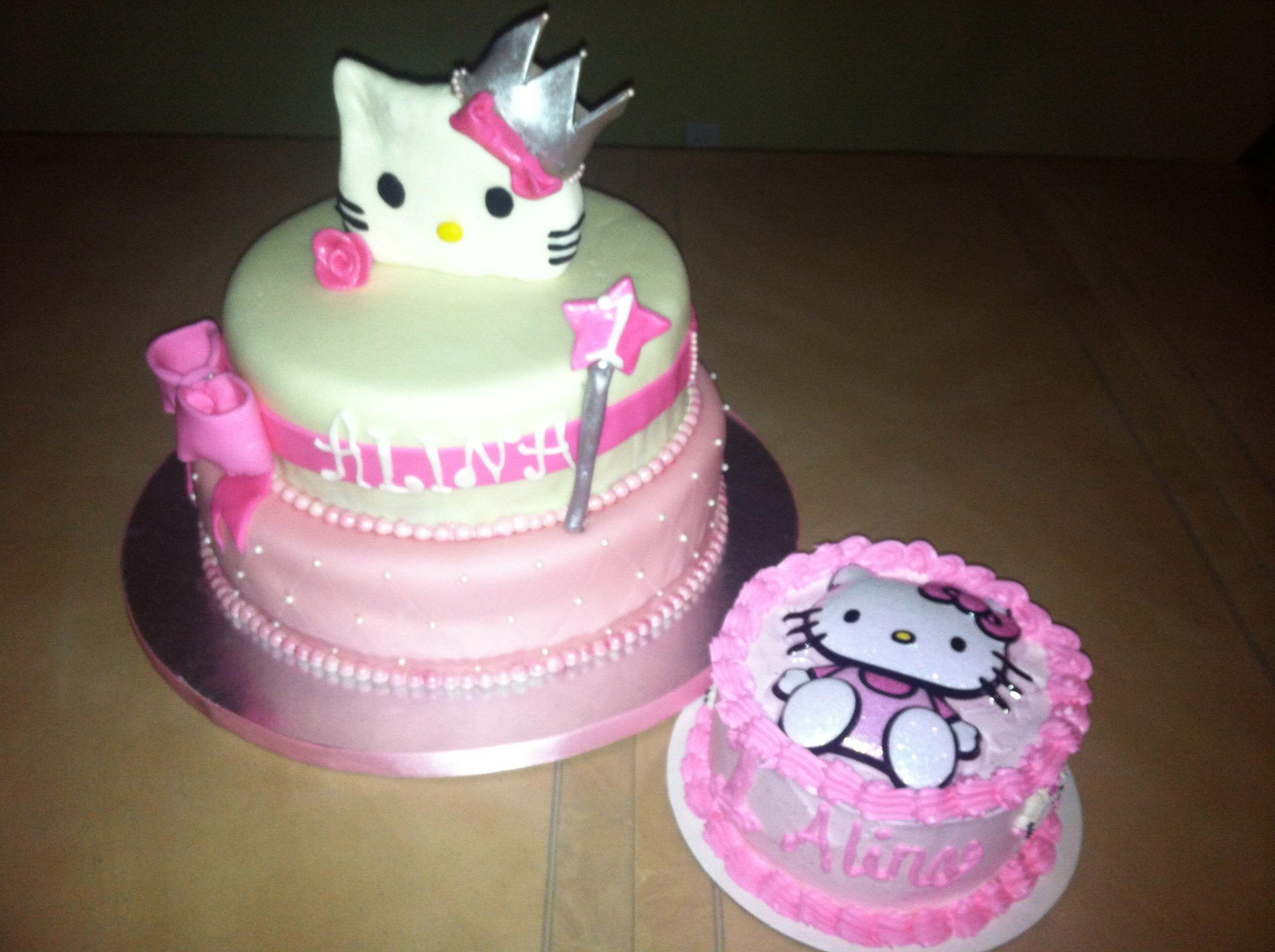 Hello Kitty Princess Cake (With images) | Princess kitty ...
