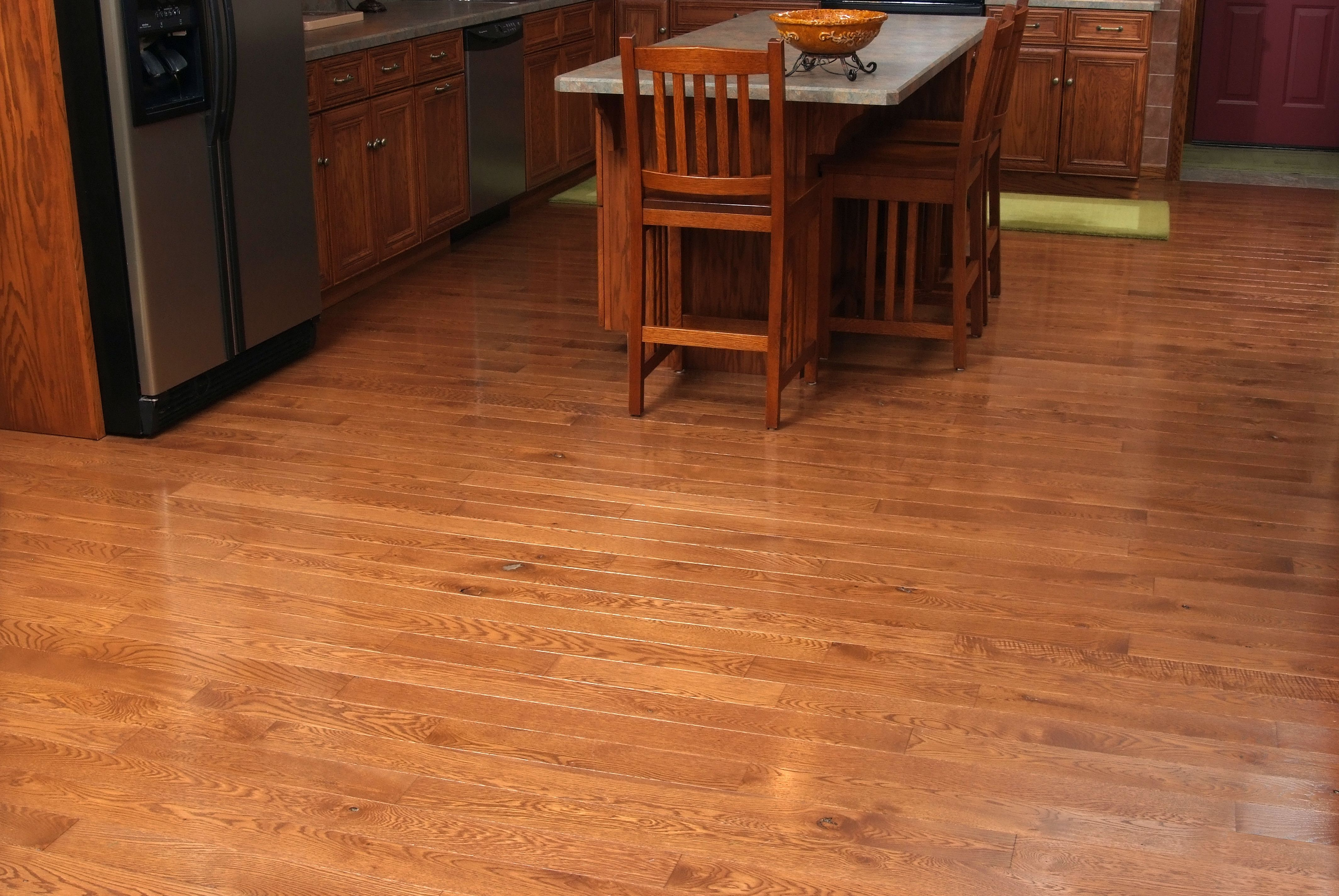 4 Character Grade White Oak Flooring With Traditional Cherry Stain And Semi Gloss Finish Wood Floors Wide Plank Wood Floors Flooring
