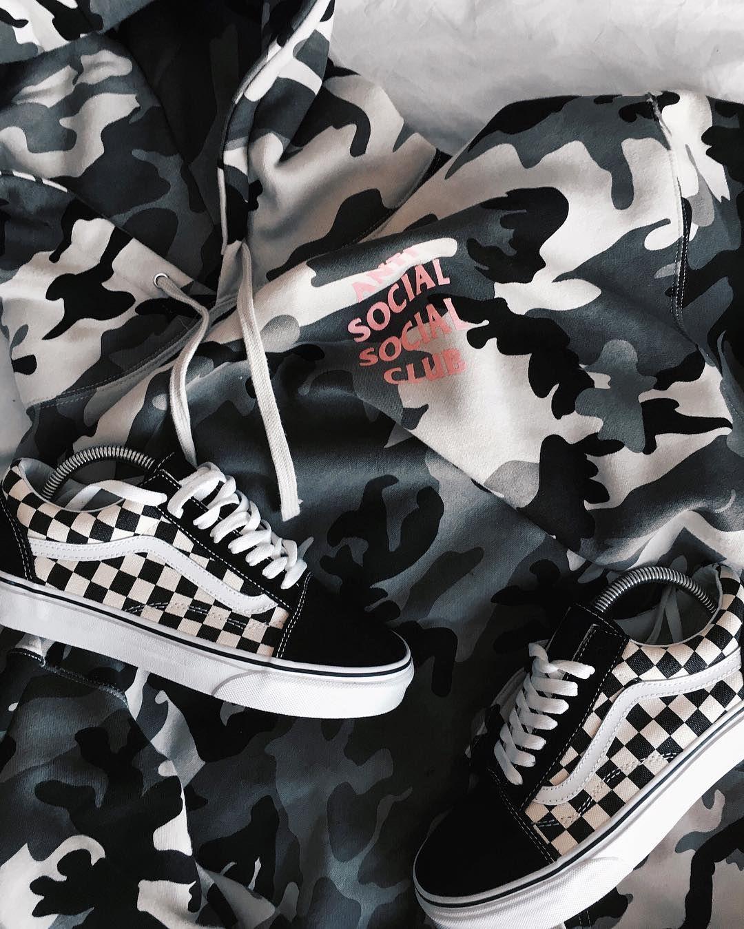 70fa0da4a2612 Camo Check. by blvckmvnivc | Swagu | Fashion, Vans shoes, Outfits