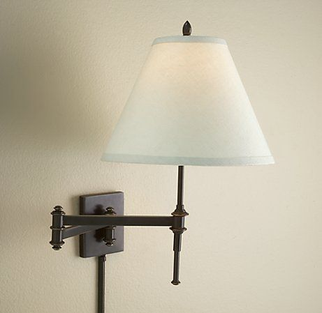Library Sconce | Sconces, Swing arm wall sconce, Swing arm ... on Non Wired Wall Sconces id=75668